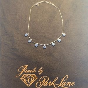 Park Lane Blue Flower Necklace